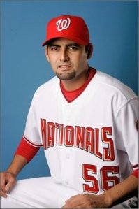 Pitcher Luis Ayala in 2008 (AP Photo/John Raoux, File)