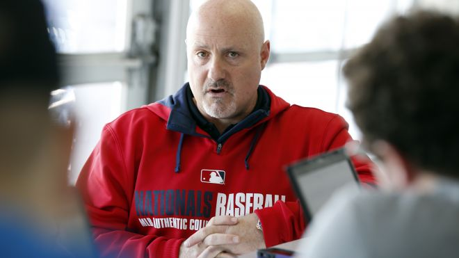 Washington Nationals general manager Mike Rizzo speaks during a media availability at their spring training. (Photo courtesy of Fox News.)