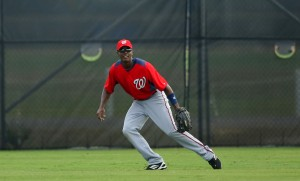 Michael Taylor in centerfield. Photo courtesy of Curly W, the official blog of the Washington Nationals.