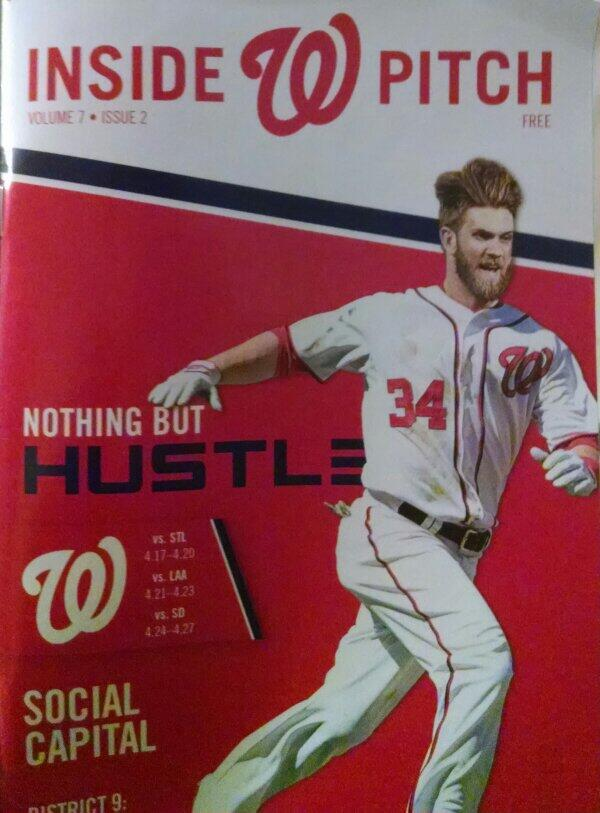 Ironic cover of the Nationals' magazine that came out on April 17!
