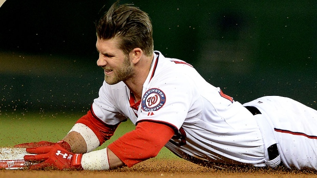 Harper forced to DL with sprained left thumb (photo courtesy of CBC Sports)